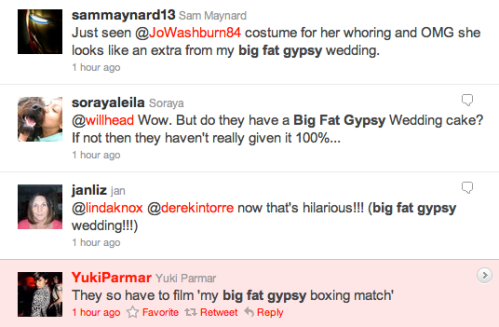 Big Fat Gypsy Wedding Screen Shot Twitter Negative Comments